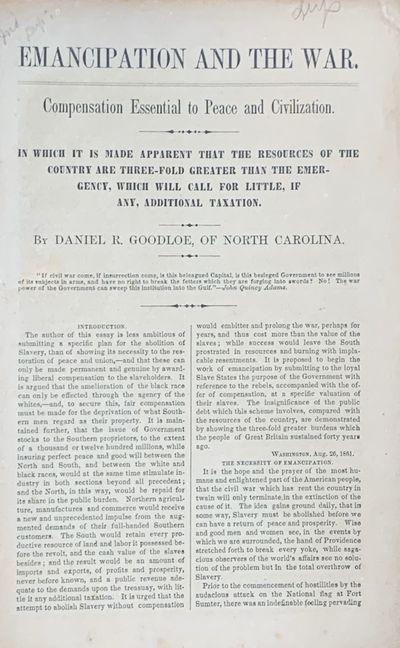 Emancipation and the War....