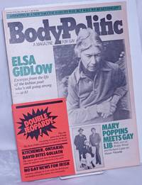 The Body Politic: a magazine for gay liberation; #83, May, 1982: Elsa Gidlow