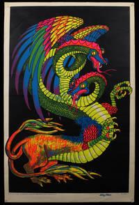 """Dragon"" Silkscreened Neon Blacklight Poster, 1971"