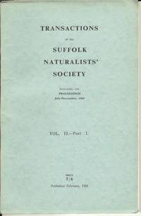 Transactions of the Suffolk Naturalists' Society Vol. 13 - Part 1