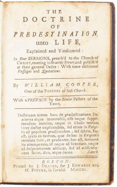 The Doctrine of Predestination unto...