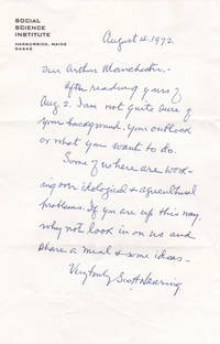 AUTOGRAPH LETTER SIGNED BY RADICAL ECONOMIST SCOTT NEARING INVITING HIS CORRESPONDENT TO VISIT.