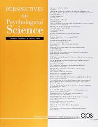 image of Perspectives On Psychological Science (Volume 4, Number 1, January 2009)