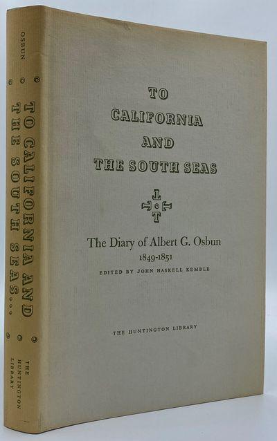 San Marino: The Huntington Library, 1966. First Edition. 233pp. Octavo Light blue cloth. Near fine/N...