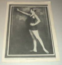 A vintage magazine photographic portrait of the YOUNG SWIMMING CHAMPION CORRINE CONDON, who broke the world\'s record by winning the national A.A.U. Junior 50 yard freestyle swim in 28 seconds at the age of 14.