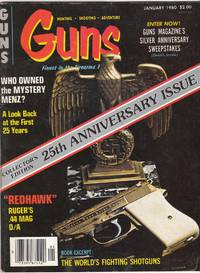 image of Vintage Issue of Guns Magazine for January 1980 the 25th Anniversary Issue