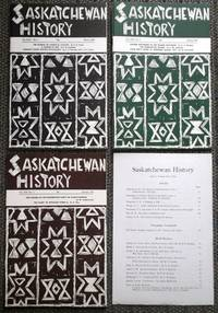 image of SASKATCHEWAN HISTORY.  VOL. XXI NO.s 1, 2 & 3.  (WINTER, SPRING, AUTUMN 1968).  PLUS INDEX.