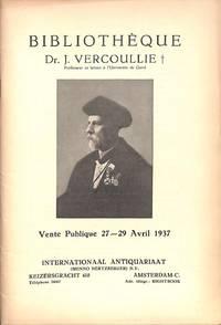 Vente 27-29 Avril 1937: Bibliothèques Dr J.Vercoullie, Proffesseur De  Lettres à l'université De Gand.