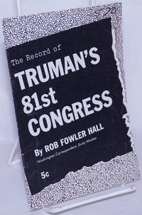 image of The Record of Truman's 81st Congress