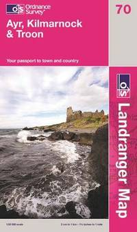 image of Ayr, Kilmarnock and Troon (Landranger Maps) (OS Landranger Active Map)