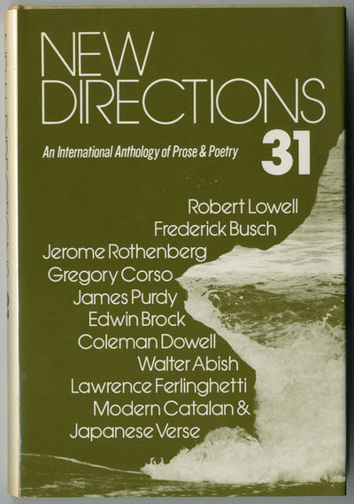 : New Directions, 1975. 186pp. Cloth. First edition, clothbound issue. About fine in dust jacket. Lo...
