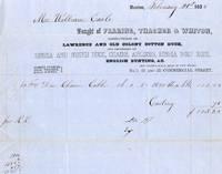 An Original 1855 Fearing, Thacher & Whiton, Boston Mass. Company Bill Head