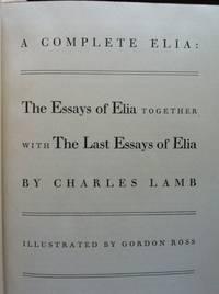 elia the essayist Elia definition: an english essayist (born: 1775 – died: 1834) synonyms: charles lamb, elia lamb [pseudonym], lamb type of: essayist +audio.