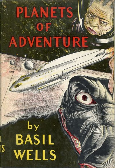 Los Angeles: Fantasy Publishing Co., 1949. Octavo, pp. 12- original red pebbled cloth, spine panel s...