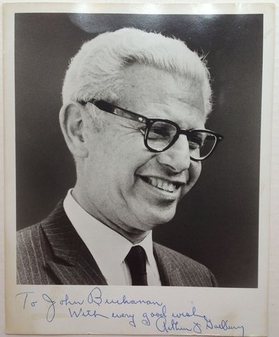 1965. unbound. 10 x 8 inches, no place, no date but most likely signed as Supreme Court Justice, cir...