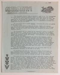 Alternative Natural Foods Cooperative [handbill]
