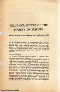 QUAKERS. Annual Report to The Meeting for Sufferings, 1933