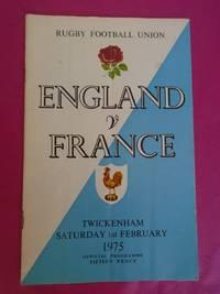 ENGLAND V FRANCE 1975