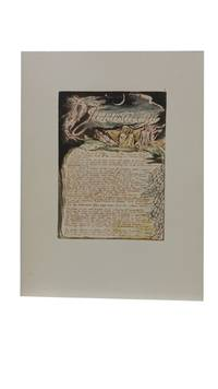 Individual Facsimile Prints from the Trianon Press; Jerusalem, Cunliffe Copy B, plate 4 by  William Blake - from Archives Fine Books  (SKU: 1179)