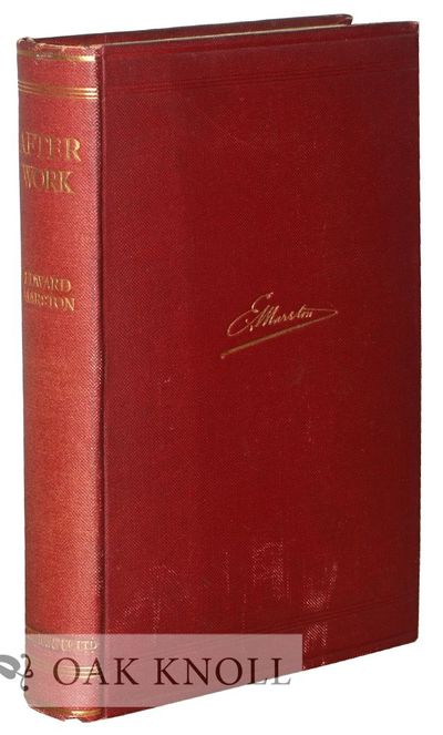 London and New York: Sampson Low, Marston & Co. and Charles Scribners, 1907. cloth, top edge gilt. 8...