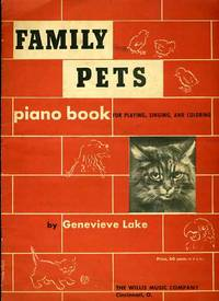 Family Pets Piano Book for Playing, Singing and Coloring