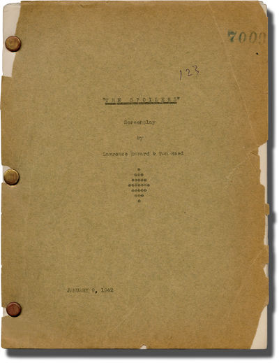 Universal City, CA: Universal Pictures, 1942. Draft script for the 1942 film. Copy belonging to stud...