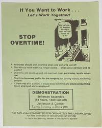 image of If you want to work... Let's work together! Stop overtime! [handbill]