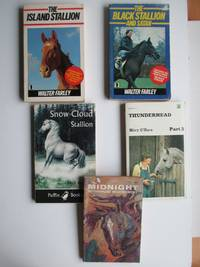 image of 5 American pony stories first published in the 1940s & 1950s: The island  stallion, with, The black stallion and Satan, with, Thunderhead Part 3,  with, Midnight, with, Snow Cloud stallion