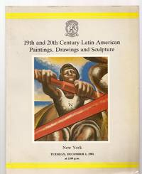 image of CHRISTIE'S 19TH AND 20TH CENTURY LATIN AMERICAN PAINTINGS, DRAWINGS AND  SCULPTURE: NEW YORK TUESDAY DECEMBER 1, 1981
