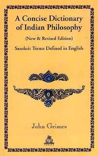 image of A Concise Dictionary of Indian Philosophy: Sanskrit Terms Defined in Englsih