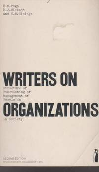 Writers on Organizations: An Introduction (Business Library)