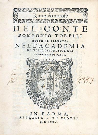 Rime amorose del conte Pomponio...