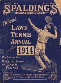 image of Spalding's Athletic Library Official Lawn Tennis Annual for 1914