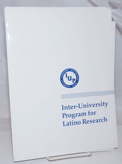 np: Inter-University Program for Latino Research, 1990. 9 x 12 inch folder, very good condition, con...