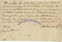 A Slave Document Signed By George Washington's Nephew Lawrence Lewis