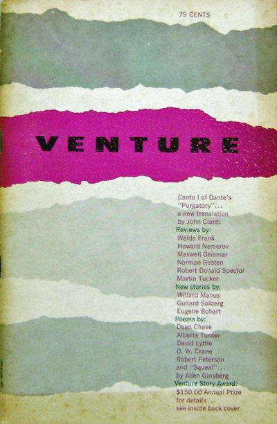 Bloomfield, NJ: Venture Publications, 1959. First edition. Paperback. Very Good. 8vo. 81 pp. Journal...