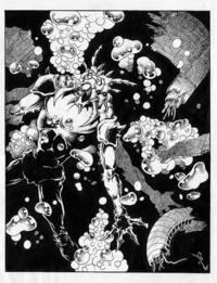 Rosema, Scott; The Fly / Alien - original art