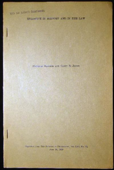 USA: The Journal of Philosophy, 1959. (17) pages; with the small