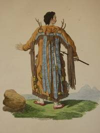 The Costume of the Russian Empire 1811. Original Hand Coloured Engraving by John Dadley (after Johann Gottlieb Georgi). Plate XLVIII: Back Figure of a Tongusian Priest, in the Vicinity of the Argoun [Tungusic People/Manchu-Tungus/Siberia]