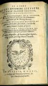 View Image 2 of 5 for Il Libro De Gli Huomini Illustri...Le Vite D'Alessandro...I Costumi Di Cesare Ne Fatti Di guerra...E... Inventory #045392