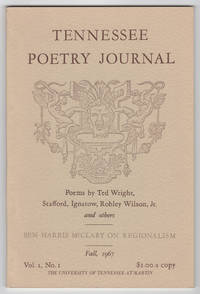 Tennessee Poetry Journal, Volume 1, Number 1 (Fall 1967) - includes handwritten letter to poet Josephine Miles