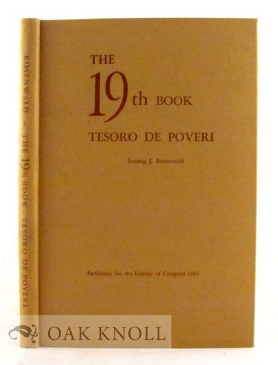 Washington: The Library of Congress, 1961. cloth. tall 8vo. cloth. 123 pages. First edition. With 13...