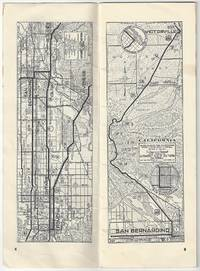 Sectional Road Maps: Los Angeles, Calif. to Salt Lake City, Utah - via Cedar City, Utah. Also includes Zion, Bryce and Grand Canyon National Parks. 736.5 Miles