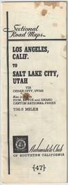 View Image 6 of 6 for Sectional Road Maps: Los Angeles, Calif. to Salt Lake City, Utah - via Cedar City, Utah. Also includ... Inventory #4158