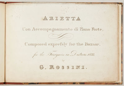 : , 1833. Oblong octavo. Sepia cloth-backed marbled boards with titling in manuscript to upper, orig...