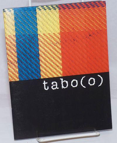 : Claremont Graduate University Art Department, 2000. p., stapled glossy wraps, 6 x 7.5 inches, illu...