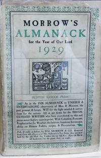 Morrow\'s Almanack for the Year of Our Lord 1929