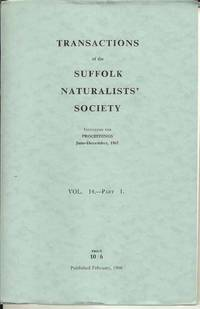 Transactions of the Suffolk Naturalists' Society Vol. 14 - Part 1