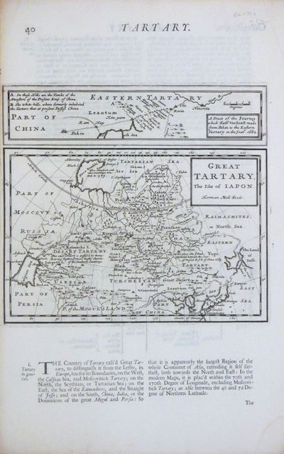London: Moll, Herman. unbound. Map. Uncolored copper plate engraving. Image measures 6 1/2