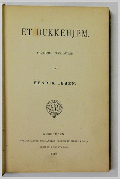 Copenhagen: Gyldendalske Boghandels Forlag, 1879. Contemporary quarter calf and boards. Extremities ...